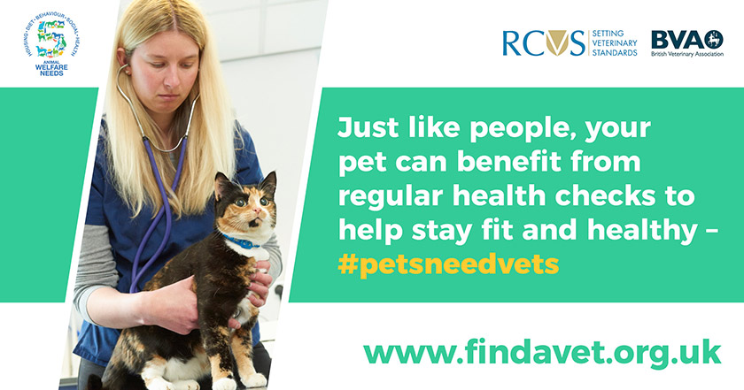 text - Just like people, your pet can benefit from regular health checks to help stay fit and healthy