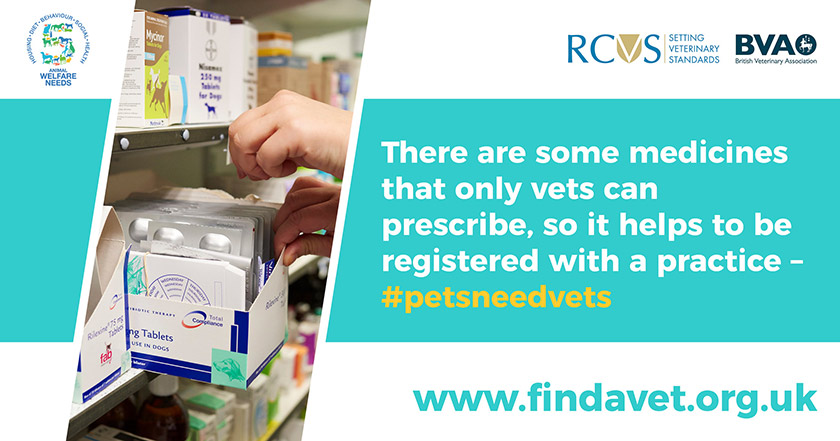 text - There are some medicines that only vets can prescribe, so it helps to be registered with a practice.