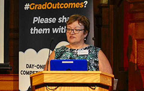 Image of Susan Dawson at Graduate Outcomes launch event